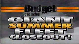 Budget Car Sales Early 90s Era Commercial
