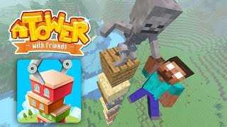 Monster School : Tower with Friends Challenge - Minecraft Animation
