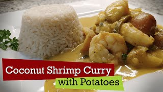 Curry Shrimp with Coconut Milk and Potatoes   Caribbean Recipe
