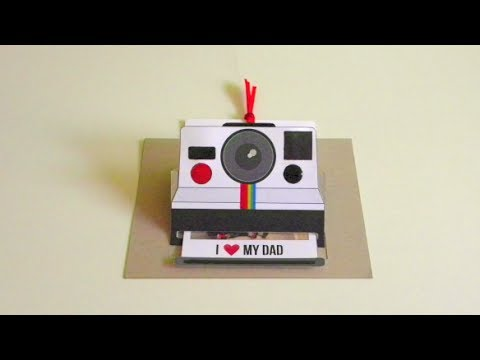 photo about Polaroid Camera Printable named POLAROID POP UP CARD: FATHERS Working day