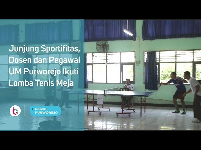 Junjung Sportifitas, Dosen dan Pegawai UM Purworejo Ikuti Lomba Tenis Meja