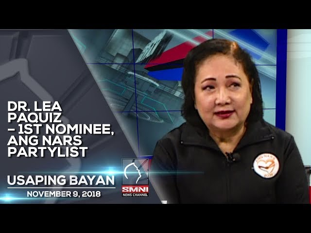 DR  LEA PAQUIZ – 1ST NOMINEE, ANG NARS PARTYLIST USAPING BAYAN