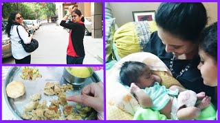 A Day In My Life: Daal bhati eating, shopping & holding a baby