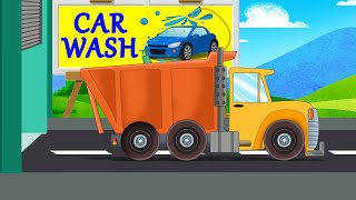 Dump Truck Car Wash | Kids Car Videos