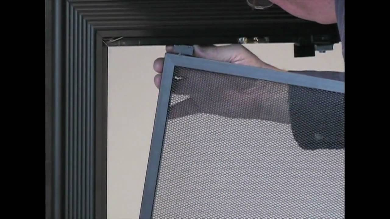 How To Install Mesh Doors For Fireplace Glass Doors Youtube