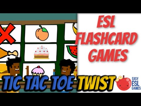 Tic Tac Twist - (An ESL language chant)  Easy ESL Games Video #29