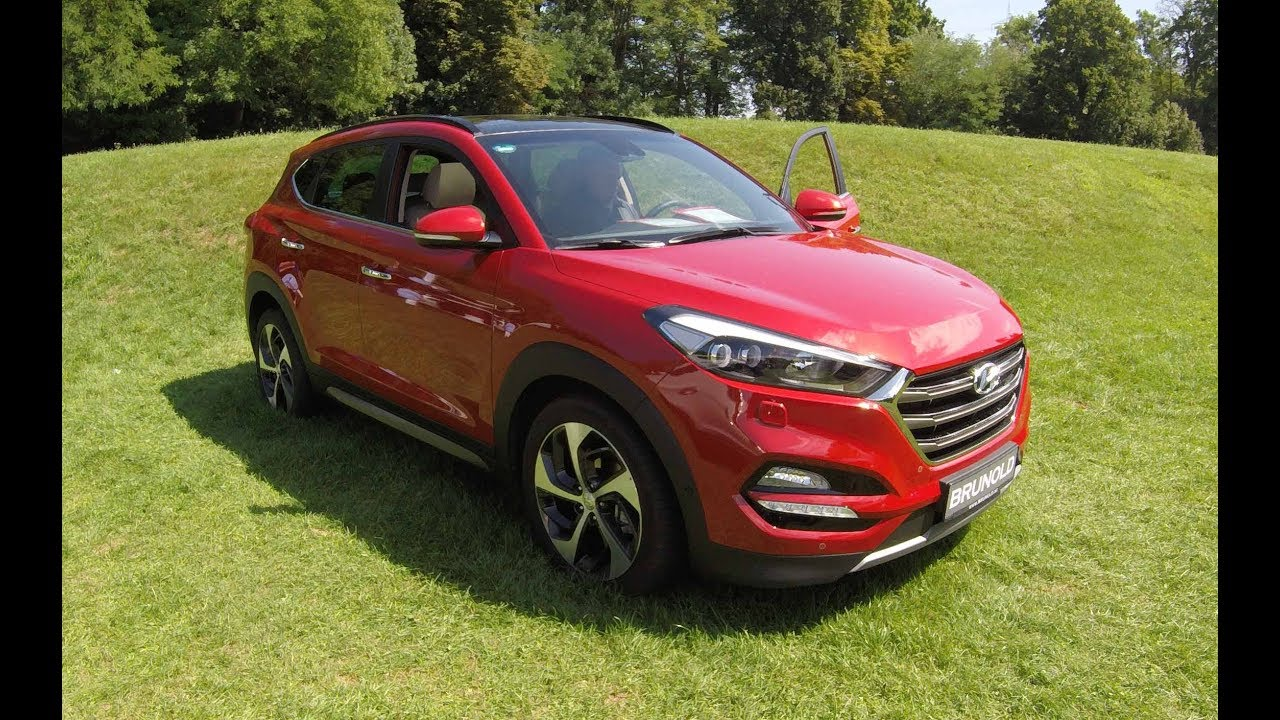 hyundai tucson premium suv fiery red model 2017. Black Bedroom Furniture Sets. Home Design Ideas