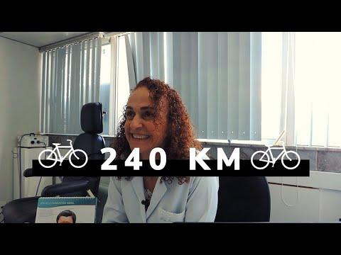 Médica de 62 anos pedalou 240 km