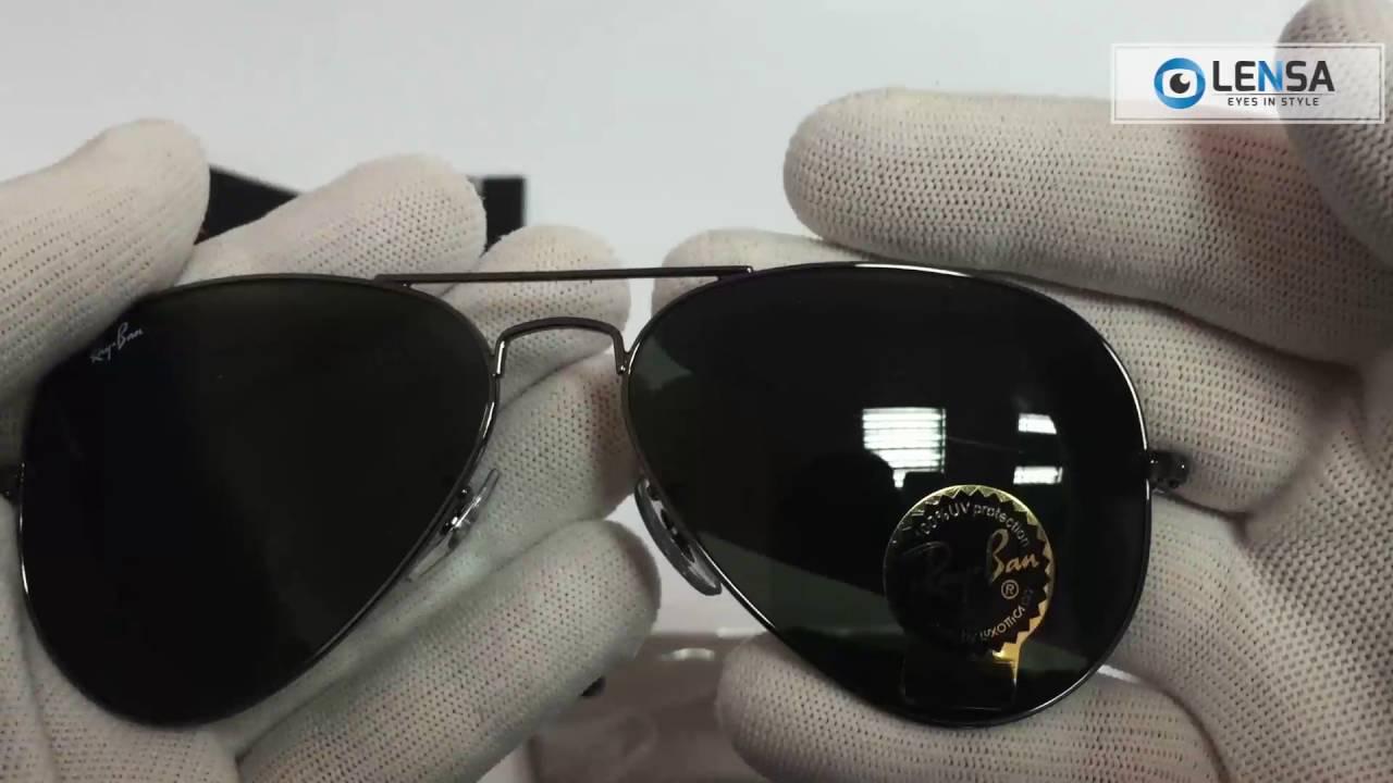 Ochelari de soare Aviator Large Metal Ray-Ban RB3025 W0879 - LENSA