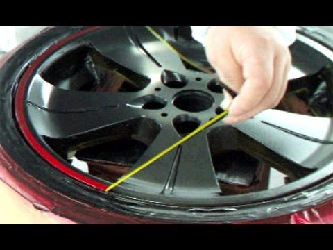 How To Repair Your Car Wheels Paint Rims Candy Red Black