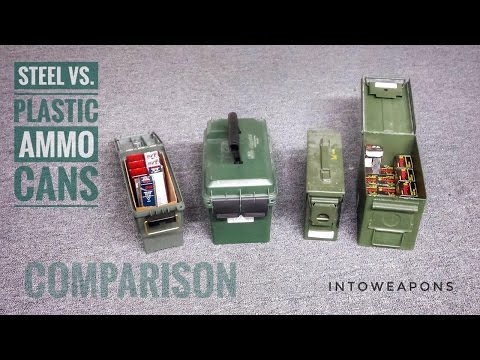 Metal Ammo Can VS. Plastic Ammo Can:  Ammo Can Comparison