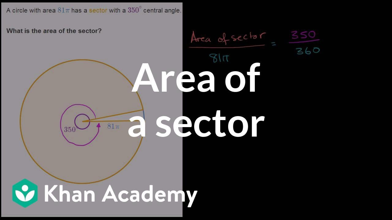 Area of a sector (video) | Sectors | Khan Academy