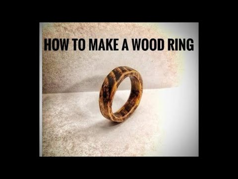 How to make a wood ring with a rotary tool.
