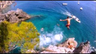 Corfu La Grotta Cliff Diving Fun Manic Side