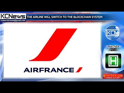 Air France will switch to the blockchain system
