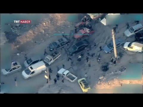 شريط فيديو للجيش التركي يُظهر مقاتلين أكراد وهم يحاولون منع مدنيين من مغادرة عفرين…  - 21:22-2018 / 3 / 12