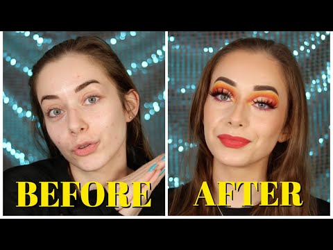 FIERY FULL CUT CREASE MAKEUP TUTORIAL | Step by Step | Roxanne Latulippe thumbnail