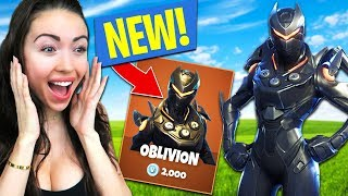 *NEW SKIN* OBLIVION SKIN GAMEPLAY!! (Fortnite Battle Royale)