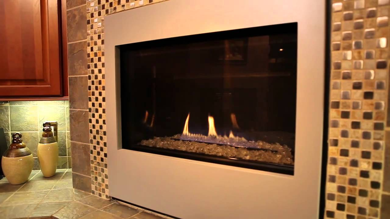 heat u0026 glo metro 32 gas fireplace video youtube