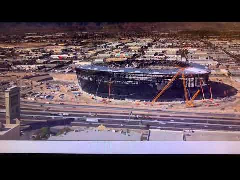 Las Vegas Allegiant Stadium Construction Update: ETFE Roof Supports Move Up