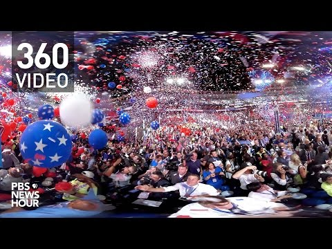 360 Video: Watch the balloons drop at the Democratic National Convention.