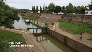 Canal de Pont de Vaux van de Saone naar Pont de Vaux