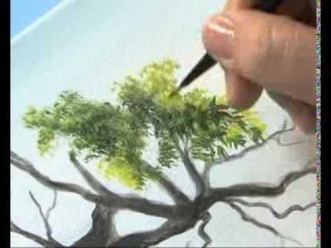 Como pintar un paisaje realista ana gjurinovich bloque - Como hacer cuadros de tela ...