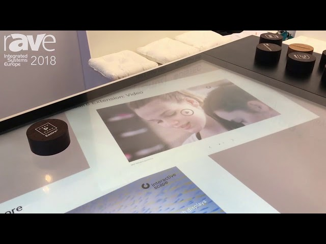 ISE 2018: Interactive Scape Demos Multitouch Software with Object Recognition