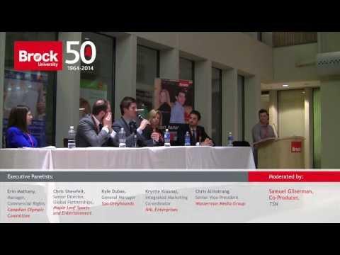 Brock Sport Management Alumni Executive Panel 2014