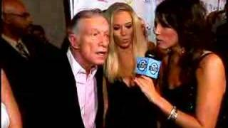 Hugh Hefner with his girls at the 2007 Really Awards
