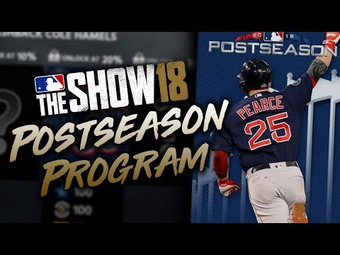 Postseason Program Revealed! 95 Steve Pearce! MLB The Show 18 Diamond Dynasty