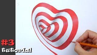 3d рисунок сердца - анаморфная иллюзия на бумаге. Урок рисования.(Как нарисовать 3д рисунок сердце - поэтапный обучающий урок - туториал. В этом видео я дам подробные инструкц..., 2016-12-08T16:15:04.000Z)