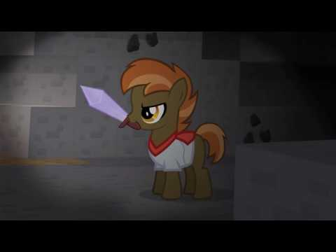 Minecraft song don't mine at night my little pony animation