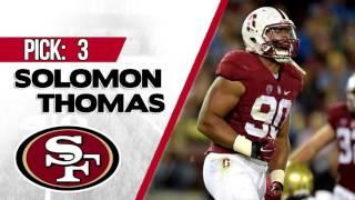 SAN FRANCISCO 49ERS SELECT SOLOMON THOMAS 3RD OVERALL | 2017 NFL DRAFT Free HD Video