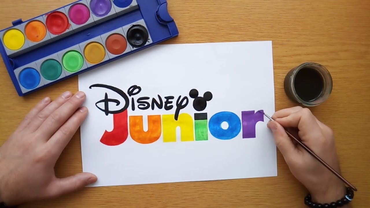How to draw a colorful Disney Junior