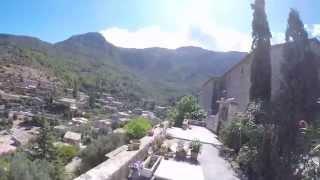 Binaural Soundscape Walk up to the Church of Deià Village, Mallorca