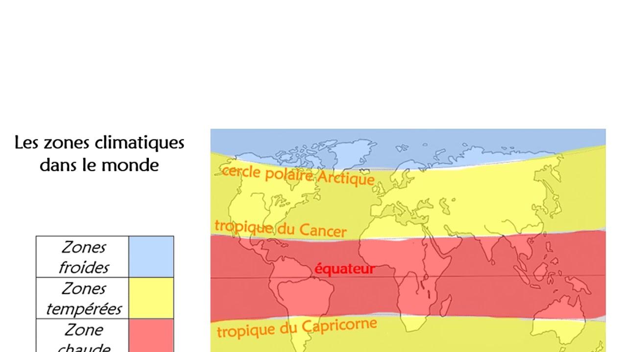 zones climatiques