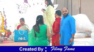 Stunning Hot Kajol Flaunts Her Huge $exy Cleavage In Green Saree At Durga Puja Day 3