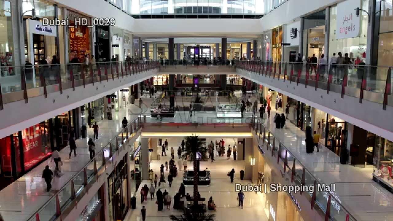 UHD Ultra HD 4K Video Stock Footage Dubai Largest Shopping ...