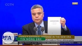 Tin nóng 24H | Sách Trắng Quốc phòng Trung Quốc khẳng định Trung Quốc không bành trướng Biển Đông