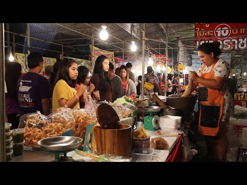 Thai Street Food: Trying the Food at a Fair in Thailand, Part 2. Eating Thai Food in Krabi Thailand.