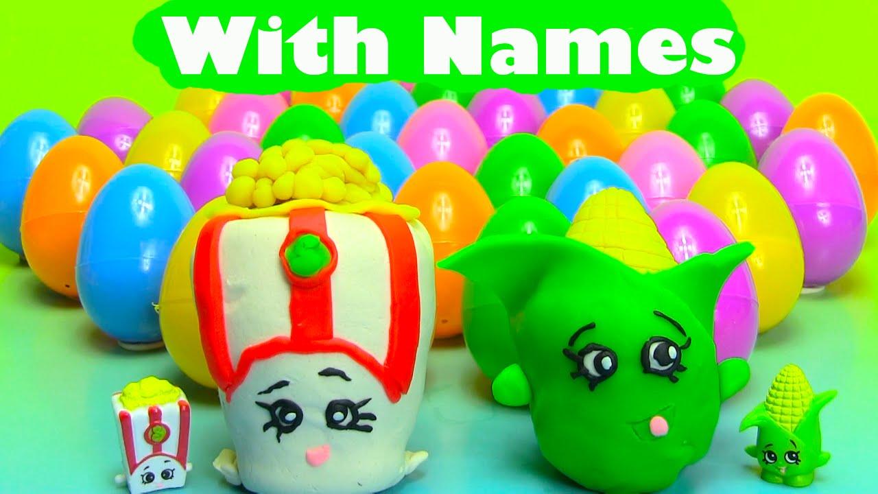 40 Shopkins Season 2 Surprise Eggs With Names   YouTube