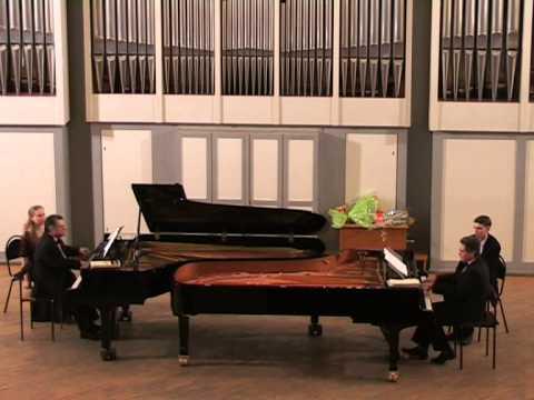 Alexander Rykel and Lev Shugom play Rachmaninov Russian Rhapsody for two pianos