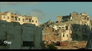 وزير دفاع النظام يتفقد مليشياته بين أنقاض مدينة حلب
