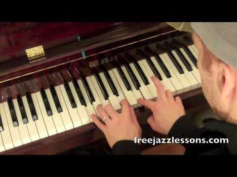 How To Play Jazz Piano Chords Rootless Voicings Youtube