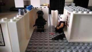 Лего cs go спецназ SWAT  против террористов освобождение рабочей зоны в Америке