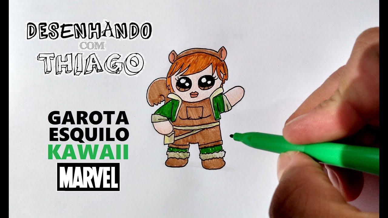 GAROTA ESQUILO - KAWAII (Desenhando com Thiago)