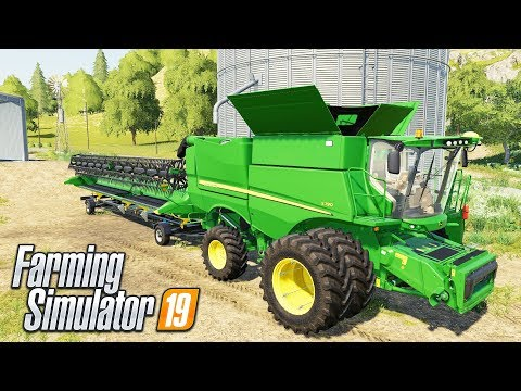 FS19- FIRST LOOK GAMPLAY ON AMERICAN MAP & TESTING THE JD S790!