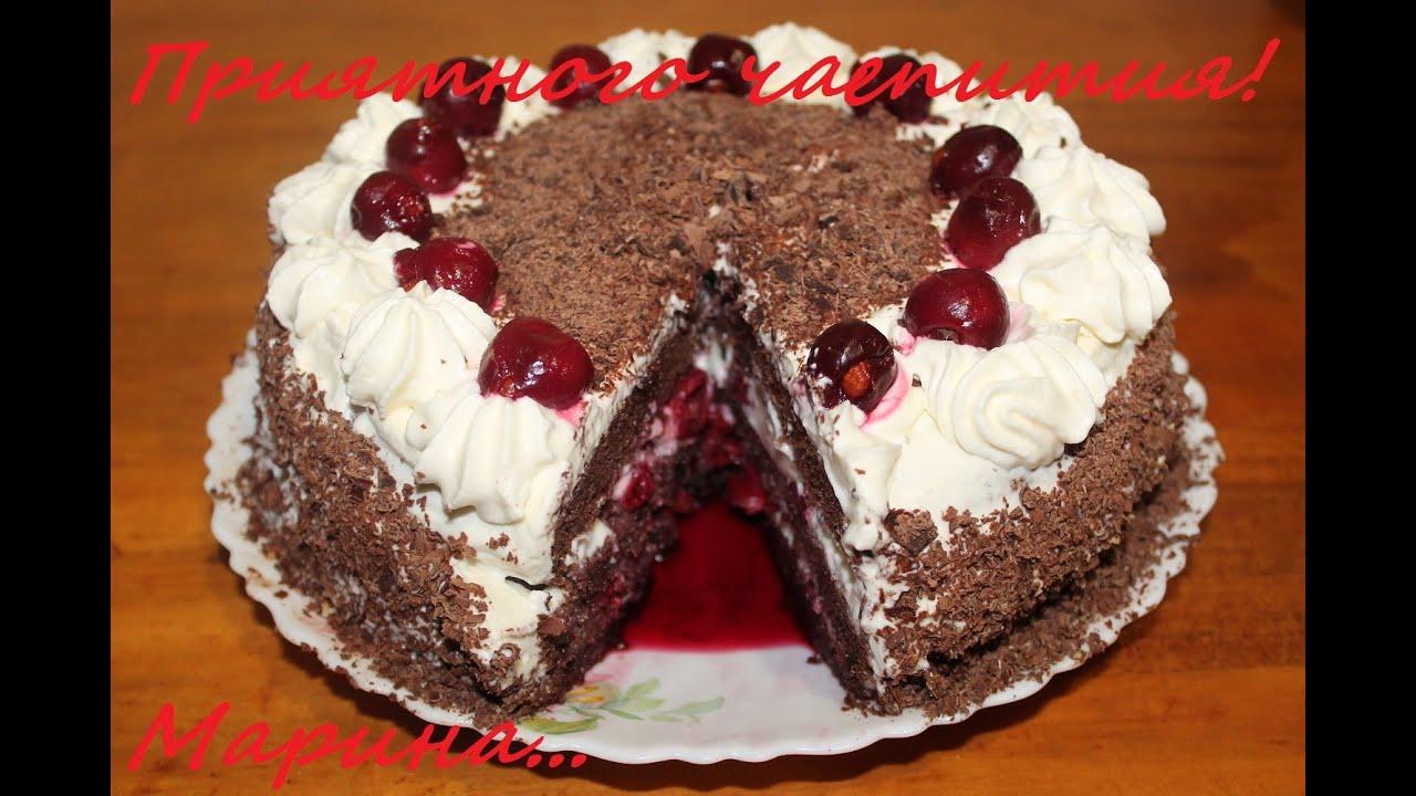 шоколадный торт пьяная вишня в мультиварке рецепт с фото