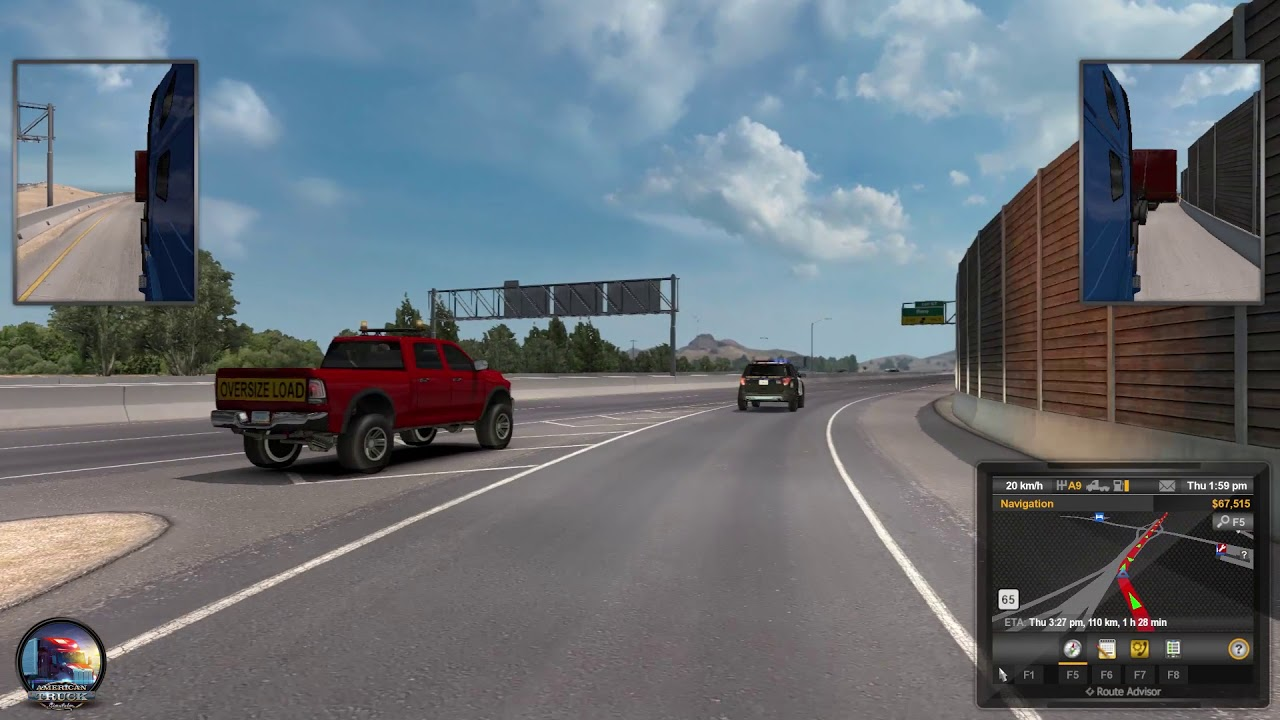 American Truck Simulator Gameplay #7   Truckee (NV) - Carson City (NV)